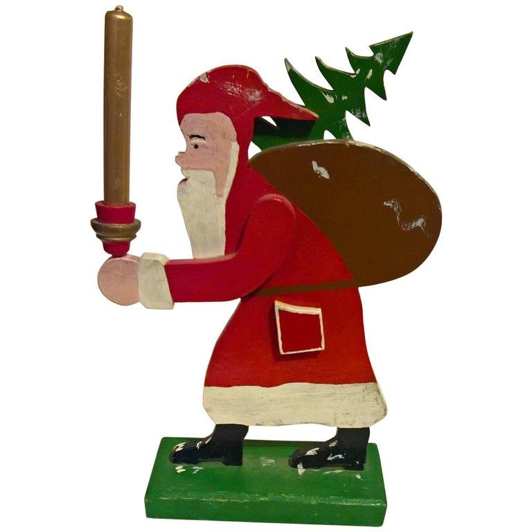 Mid-20th Century Christmas Santa Figure from Erzgebirge