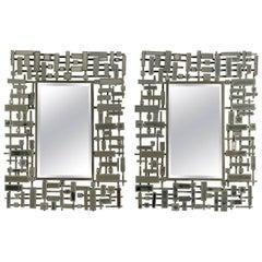 Pair of Mirrors, Art Moderne, circa 1980-1990
