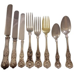 King Edward by Gorham Sterling Silver Flatware Set for 8 Service 32 pcs Dinner