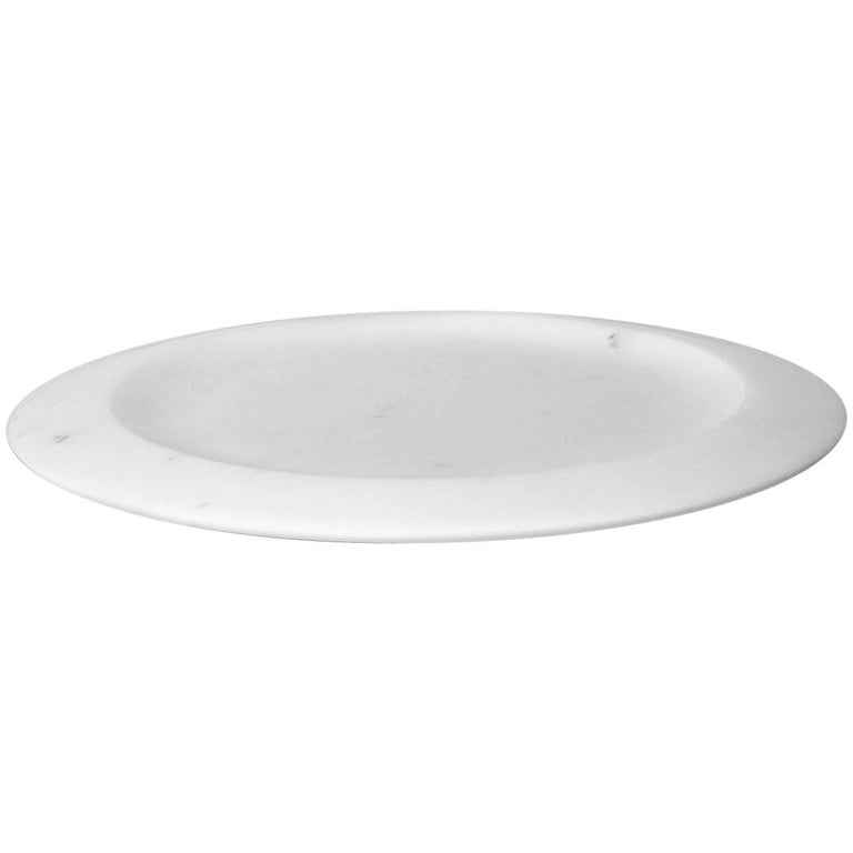 Dish in White Carrara Marble by Ivan Colominas, Italy