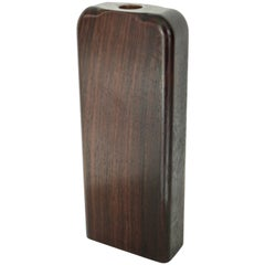 Solid Rosewood Minimalist Artisanal Flower Vase with Copper Liner