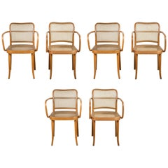 Set of Six Bentwood Armchairs by Josef Hoffman for Stendig