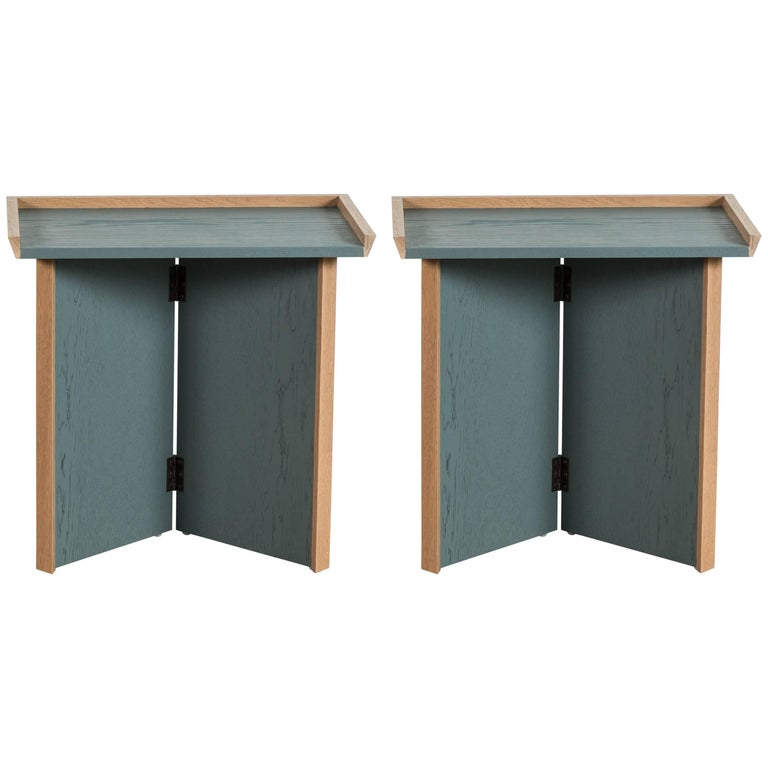 Pair of Folding Side Tables by Lawson-Fenning For Sale