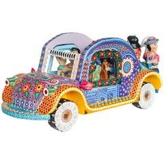 Mexican Folk Art Woodcarving Alebrije Nativity Set Beetle Traditional Art