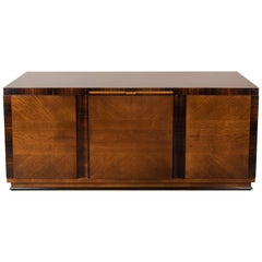 German Art Deco Rosewood and Fruitwood Sideboard