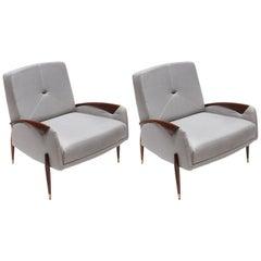Pair of Scapinelli Brazilian Jacaranda Armchairs