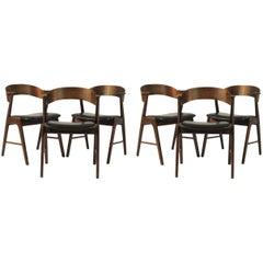 1960s Set of Six Kai Kristiansen Model 32 Rosewood Dining Chairs