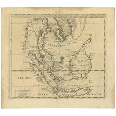 Antique Map of Southeast Asia by H. Chatelain, circa 1720
