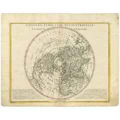 Antique Map of the Northern Hemisphere by A. Zatta, 1779