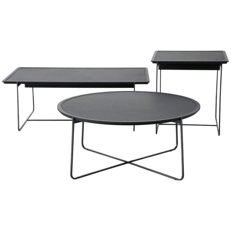 """""""Cuvee De Nuit"""" Low Rectangular Side Table by Stephane Lebrun for Dessie' For Sale"""