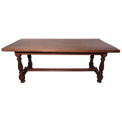 French Golden Oak Farmhouse Table