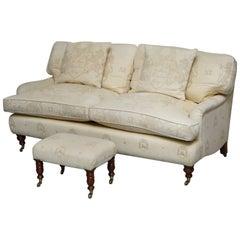 Andrew Martin Howard Style Sofa with Royal Magna Carta Upholstery