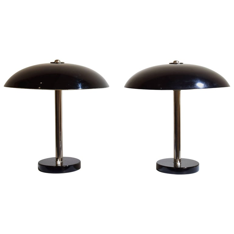 Pair of Table Lamps by Christian Dell for Bünte & Remmler, circa 1931