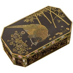 Antique French 18-Karat Gold-Mounted & Japanese Lacquer Snuff Box, circa 1810