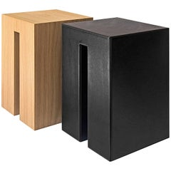 """""""Kyo-Co"""" Leather Covered Plywood Stool by Nathalie Orlandi for Dessie'"""