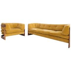 Rosewood Sofa and Easy Chair from Stjernmobler