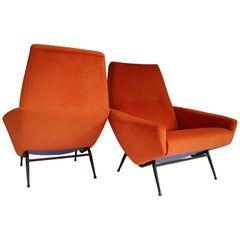 Pair of Armchairs by Guy Besnard, 1960s