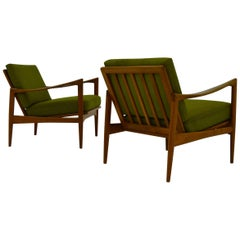 Ib Kofod Larsen Pair of Kandidaten Easy Chairs by OPE Mobler