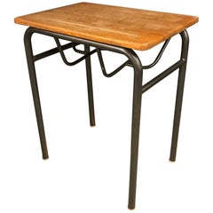 Vintage French Single School Table