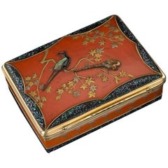Antique French 18 Karat Gold-Mounted and Japanese Lacquer Snuff Box, circa 1780