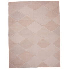 Contemporary Turkish Kilim Made from Recycled Hemp