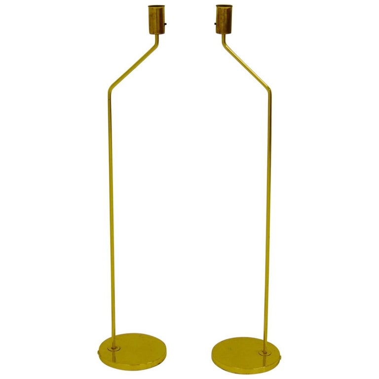 Pair of Brass Bergboms Floor Lamps