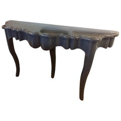 Sensational Blue Lacquered Console Table