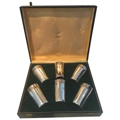 Extremely Rare Set of Vintage Iconic Gucci Silver Plated Glasses