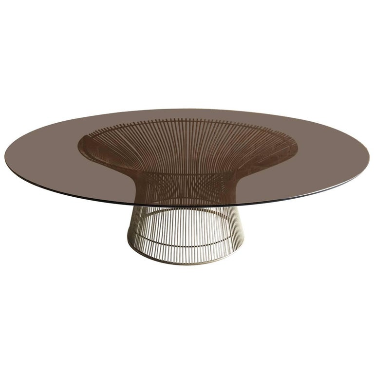 Warren platner for knoll international coffee table steel for Warren platner coffee table