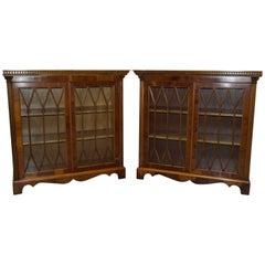 Pair of Original 1978 House of Scott Ltd Reproduction Regency Dwarf Bookcases