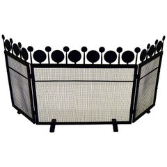 Boda Smide Firescreen, Wrouht Spark Protection to the Fireplace