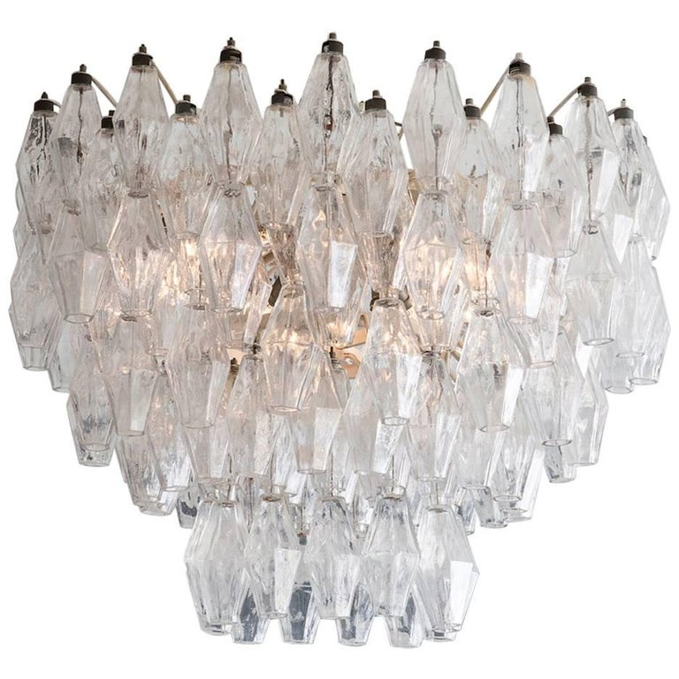 Vintage Polyhedral Chandelier For Sale