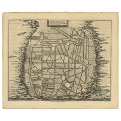 Antique Map of the City of Materan 'Indonesia' by P. van der Aa, circa 1725