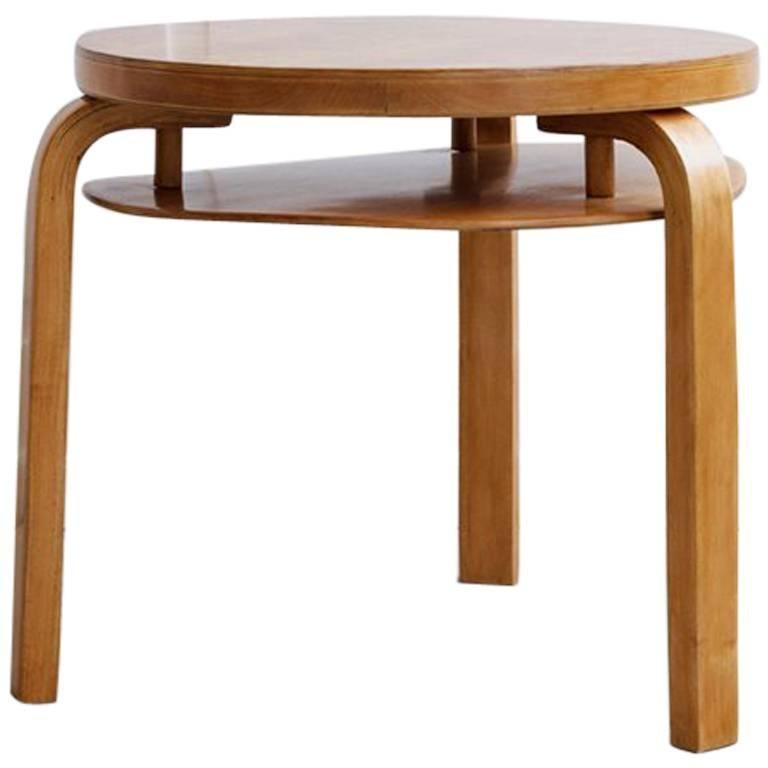 Rare Birch Small Club Table by Alvar Aalto