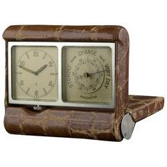 Angelus 8 Day Travel Clock with Barometer, 1930
