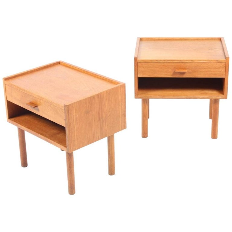 Pair of Nightstands by Wegner For Sale