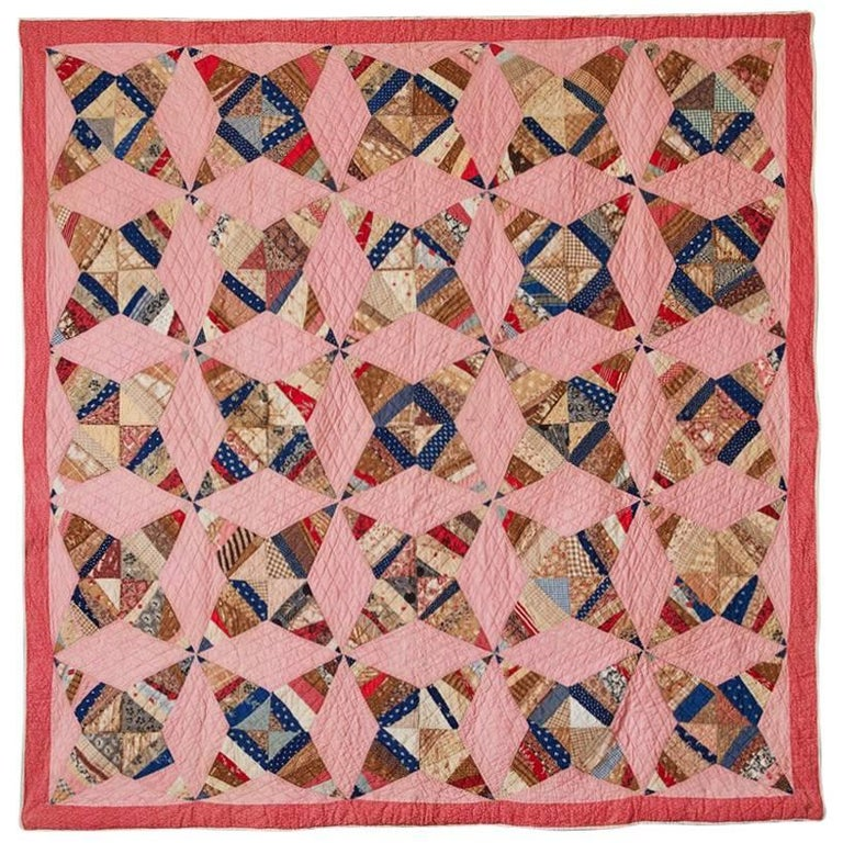 Colorful Vintage Patchwork Quilt 1