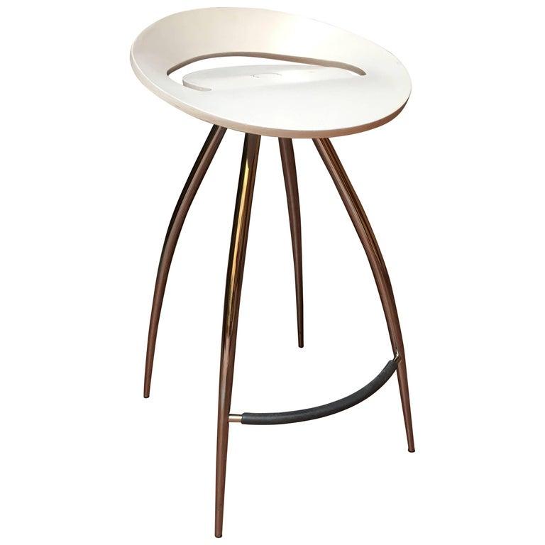Design Italian Lyra White Bar Stool Magis, Herman Miller