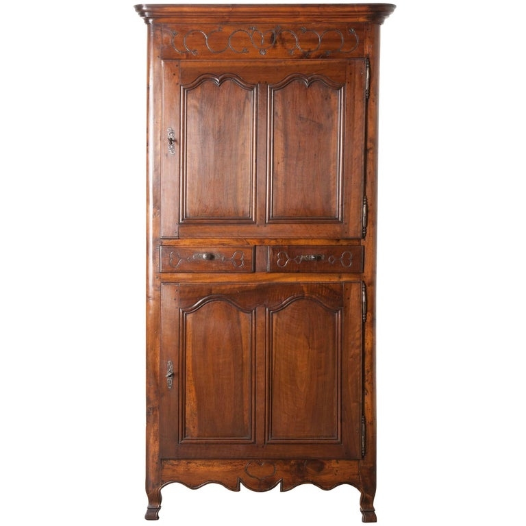 French 19th Century Provincial Walnut Homme Debout
