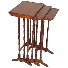 Nest of Three Tables in Rosewood