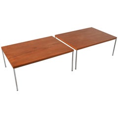 Harvey Probber Teak and Chrome Tables