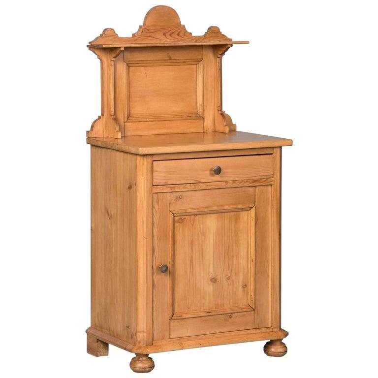 Antique 19th Century Danish Pine Nightstand