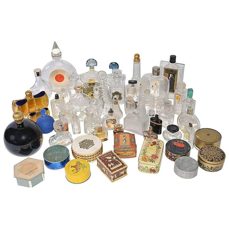 Collection of Vintage Perfume Bottles For Sale
