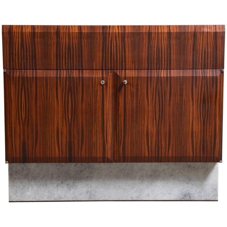 Handcrafted 1960s Brutalist Bar-Sideboard by De Coene Belgium For Sale