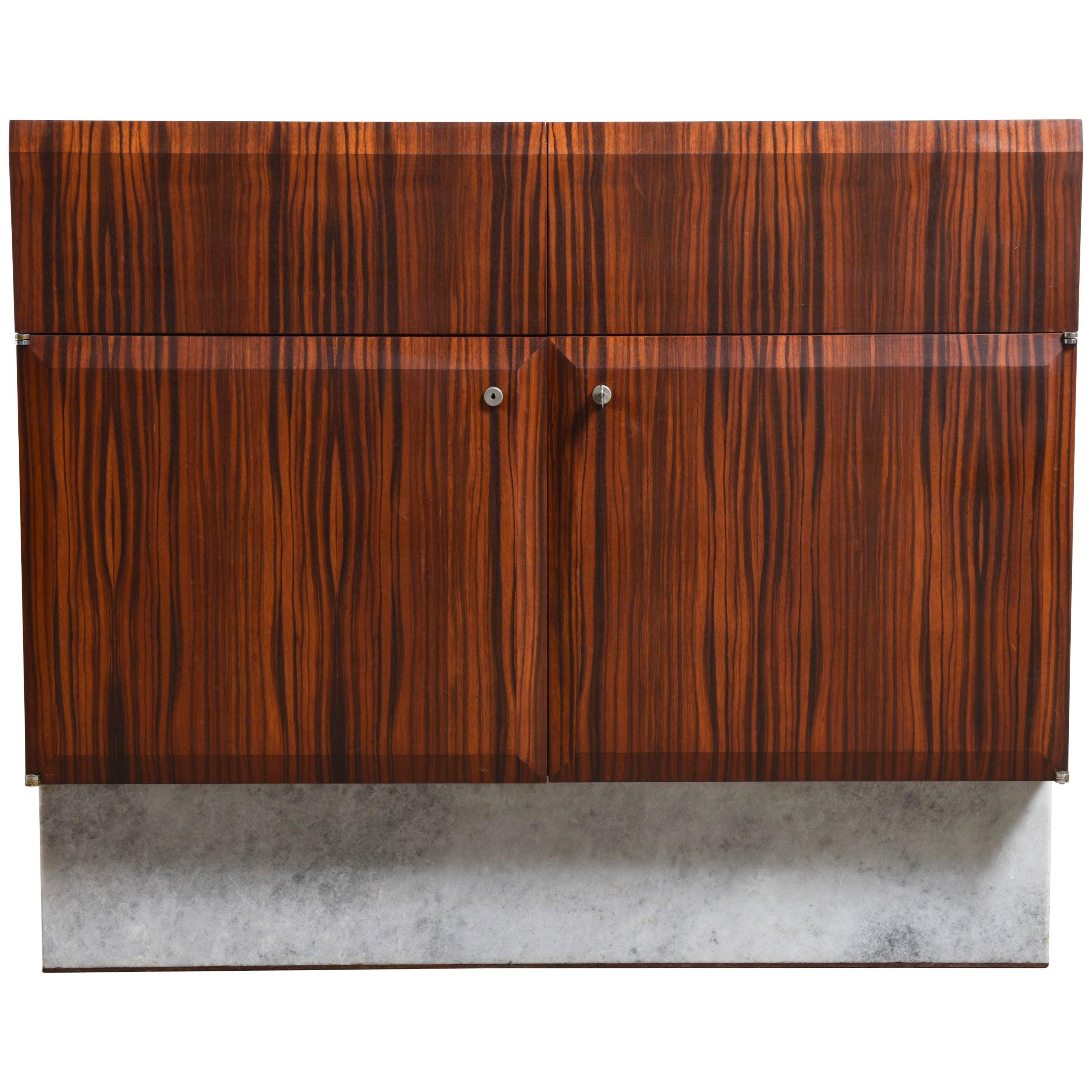 Handcrafted 1960s Brutalist Bar-Sideboard by De Coene Belgium