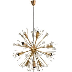 Large Gold-Plated Sputnik Chandelier Designed by Emil Stejnar for Rupert Nikoll