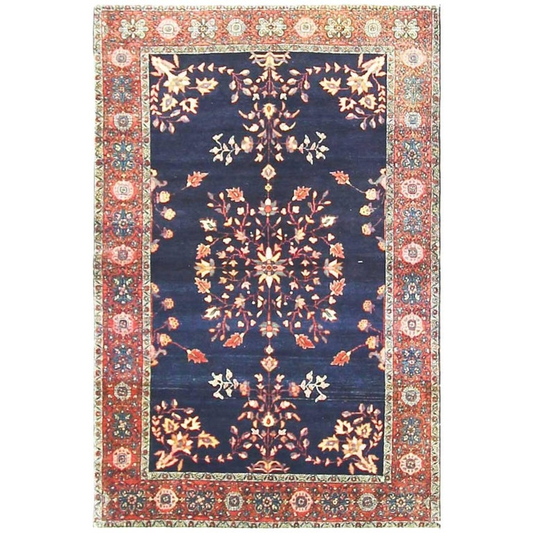 Antique Super Fine Feraghan Sarouk Rug For Sale At 1stdibs