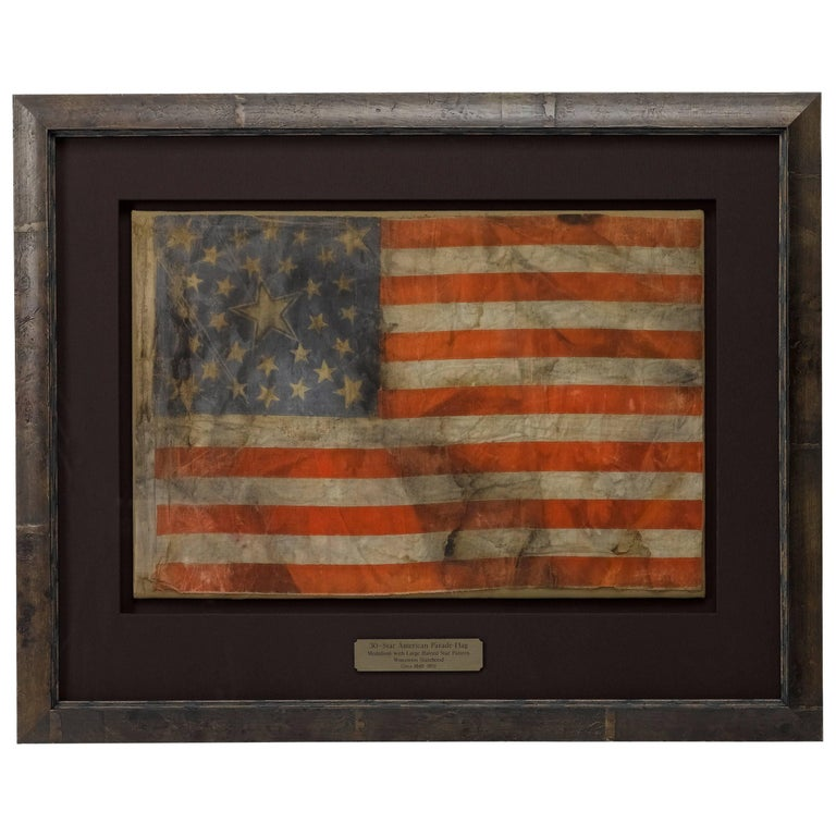 30-Star Medallion American Flag with Large Central Haloed Star