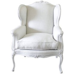 Early 20th Century Oversized Louis XV Style Wing Chair
