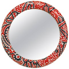 Angela Faiani Mirror after Keith Haring for Digiosaffatte Art